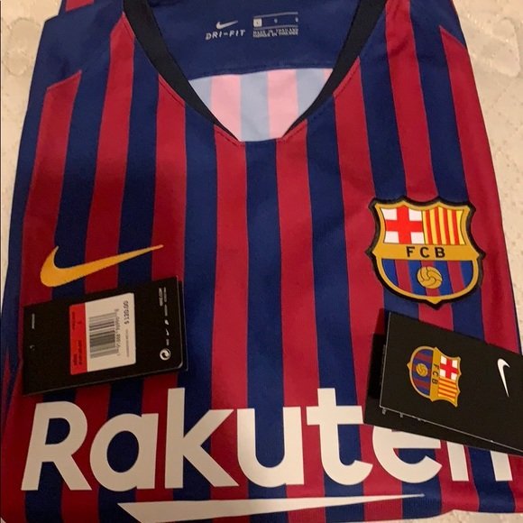 official photos f6d64 32866 FC Barcelona 18/19 Home Jersey Messi Size L
